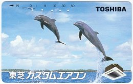 JAPAN F-924 Magnetic NTT [110-011] - Animal, Sea Life, Dolphin - Used