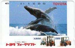 JAPAN F-928 Magnetic NTT [110-011] - Animal, Sea Life, Whale - Used