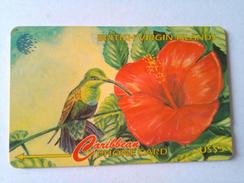 BVI Phonecard 67CBVA US$5 Humming Bird