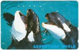 JAPAN F-996 Magnetic NTT [110-011] - Animal, Sea Life, Whale - Used