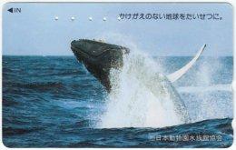 JAPAN F-997 Magnetic NTT [110-011] - Animal, Sea Life, Whale - Used