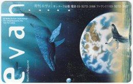 JAPAN F-998 Magnetic NTT [110-011] - Animal, Sea Life, Whale - Used