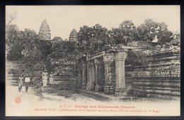 ASIE - CAMBODGE - ANGKOR WAT - Voyage Aux Monuments Khmers - Soubassement De La Terrasse En Croixdevant L'Entrée Princip - Cambodge
