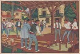 ESPAGNE --- POSTALES VASCAS--N° 6----dibujos De José Arrue---voir 2 Scans - Espagne