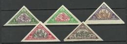 LITAUEN Lithuania 1932 Michel 340 - 344 B MNH - Lituanie