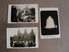 Carte Postale Ancienne Lot De 5 Cartes Photo Exposition Coloniale Missions Catholique,promenade A Chameau - Expositions