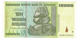 Zimbabwe, 10 Trillion Dollars , P-88 , AUNC .Free Ship. To USA. - Simbabwe