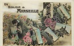 -dpts Div.-ref-NN834- Bouches Du Rhone - Marseille - Souvenir De .. - Un Bonjour De..  Multi Vues -  Voir Verso - - Marseille