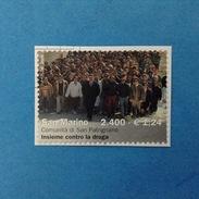 2000 SAN MARINO FRANCOBOLLO USATO STAMP USED - COMUNITÀ DI SAN PATRIGNANO 1,24 - - San Marino