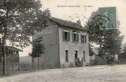 (24)  CPA Leuglay La Gare  (bon Etat) - Otros Municipios