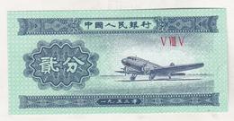 China 2 Fen 1953 , Unc - China