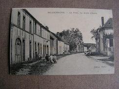 Carte Postale Ancienne 89 Yonne Bellechaume La Poste La Route D'arces Animee - Brienon Sur Armancon