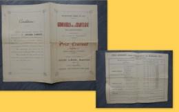 44 Saint-Julien-de-Vouvantes, Ardoisières Craonnaise, Tarifs 1895 (état) ; Ref 787 VP 29 - Publicités