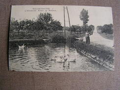 Carte Postale Ancienne 89 Yonne Bellechaume L'abreuvoir Route De Brienon  Animee - Brienon Sur Armancon