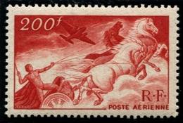 Lot N°3280b France Poste Aérienne N°19a Rouge-Sang Papier Carton Neuf ** LUXE - Poste Aérienne