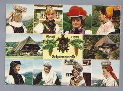 DE.- Gruss Vom Schwarzwald. Klederdrachten. 1964. 2 Scans. - Gruss Aus.../ Gruesse Aus...