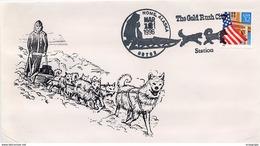 USA -  NOME ALASKA -  TRAIL LEGEND - CORSA CON SLITTA - THE GOLD RUSH - Inverno