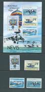 Nevis 1983 Manned Flight Set 4 & Miniature Sheet MNH - St.Kitts E Nevis ( 1983-...)