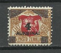 LITHUANIA Litauen 1922 Michel 117 MNH