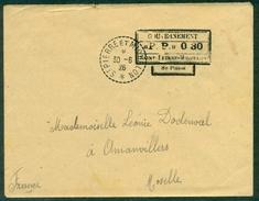 """St PIERRE Et MIQUELON 1926 Affr """"pp"""" 0.30 Du 30.6.1926 Arrivé Moselle Au Verso Tb Rare - Lettres & Documents"""