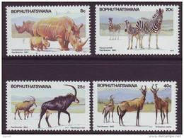 D90819 Bophuthatswana 1983 South Africa  ANIMALS RHINO ZEBRA MNH Set = Afrique Du Sud Afrika RSA Sudafrika - Bophuthatswana