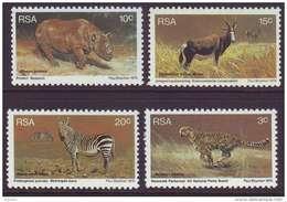 D11053 South Africa 1976 ANIMAL CONSERVATION CHEETAH MOUNTAIN ZEBRA MNH Set - Afrique Du Sud Afrika RSA Sudafrika - Unclassified