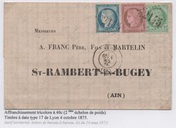 Superbe Tricolore Cérès Dentelé 1875 - 1849-1876: Période Classique