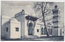 Cp , 13 , MARSEILLE , Exposition Coloniale 1922 , Vue Extérieure Du Palais De L'Algérie - Expositions Coloniales 1906 - 1922