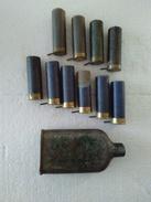 Cartouches à Broche - Calibre 12 + Flacon Pour Plombs. Pour Collection. - Decorative Weapons