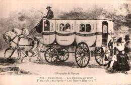 75 VIEUX PARIS LES OMNIBUS EN 1829 VOITURE DE L'ENTREPRISE LES DAMES BLANCHES PAS CIRCULEE - Bus & Autocars