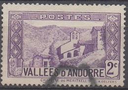 ANDORRE  FRANCAIS  N°25__OBL VOIR SCAN