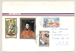 Senegal - 1971 - 4 Stamps On Airmail Cover From Dakar To Duncanville / Texas USA - Senegal (1960-...)