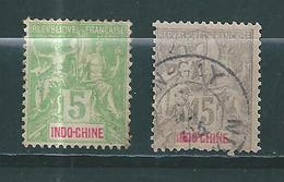 France Colonie Indochine Timbres De 1900  N°17 + 19   Oblitérés - Oblitérés