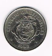 )  SEYCHELLES  1 RUPEE  1982 - Seychelles