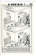 Humour Salon Bande Dessinée BD Tintin Lucky Luke Mickey Astérix Bécassine Croquignol Popeye Nimbus Marsupilami VP198CH-2 - Old Paper