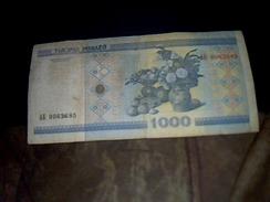 Biellorussie  (belarus ) Billet De Banque Ayant Circulé De 1000 ANCIENS  Roubles BIELLORUSSES Etat  TB - Billets