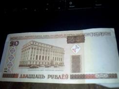 Biellorussie (belarus ) Billet De Banque Ayant Circulé De  20 Roubles BIELORUSSES Etat  TBE - Billets