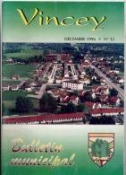 88 VINCEY  LOT DE 4 BULLETINS MUNICIPAUX N° 10 (2)  11  12 - Books, Magazines, Comics