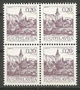 Yugoslavia,Tourist Motives 1978.,block Of Four-perforation 13 1/4,MNH - 1945-1992 Socialist Federal Republic Of Yugoslavia