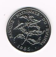)  RWANDA  10 FRANCS  1985 REDUCED SIZE - Rwanda