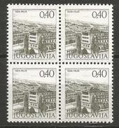 Yugoslavia,Tourist Motives 1978.,block Of Four-perforation 13 1/4,semi-gloss Gum,MNH - Ungebraucht