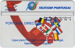 PORTUGAL A-783 Hologram Telecom - Flags Of European Nations - 329A - Used - Portugal