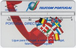PORTUGAL A-784 Hologram Telecom - Flags Of European Nations - 325A - Used - Portugal