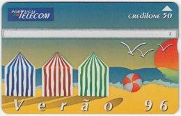 PORTUGAL A-833 Hologram Telecom - Cartoon, Leisure, Holiday, Beach - 605F - Used - Portugal