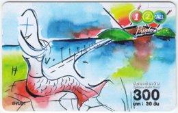 THAILAND B-187 Prepaid 1-2-call/AIS - Cartoon, Fantasy, Mermaid - Used