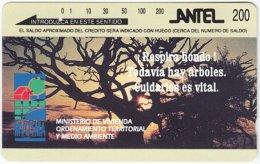 URUGUAY A-186 Optical Antel - Plant, Tree, Landscape, Sunset - Used