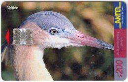 URUGUAY A-189 Chip Antel - Animal, Bird - Used