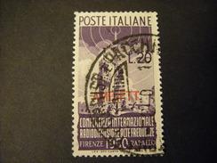 TRIESTE - AMGFTT. 1950, RADIODIFFUSIONE, L. 20 Lilla, Usato Perfetto - Gebraucht