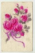 FLOWER, FLEUR - Embossed Postcard, Gaufree   ( 2 Scans ) - Fiori