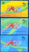 BRAZIL 2015  -   Olympic And Paralympic Games - Rio 2016  -  SWIMMING  3v - MINT - Brazilië